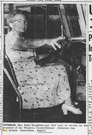 Delmar Historical And Art Society: Della Dougherty Bus Driver 1953
