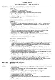 Electrical Superintendent Resume Samples Velvet Jobs