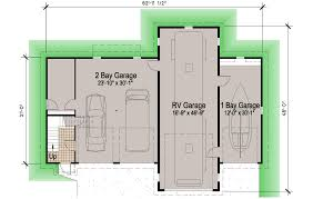 island rv garage 45 motor home southern cottages simple floor plans for house with rv