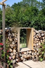 Log-wall with a window