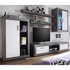 essen living room set 2 in smoke silver and white fronts with led lighting will make