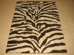plush zebra animal skin modern brown chocolate area rug