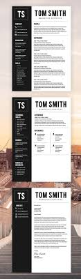 Two Page Resume Template Resume Builder Cv Template Cover