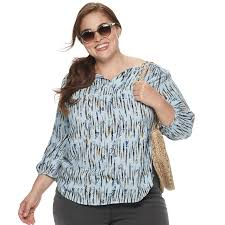 Evri Size Chart Plus Size Evri Challis Splitneck Top Womens Size 3xl