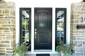 black front door with square glass in x right hand full lite classic stained fiberg