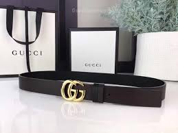 gg black leather belt with double g buckle 30mm