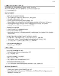 Harvard Business School Resume Format Pdf Resume Hbs Application