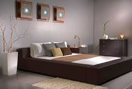 Gray Classy Bedroom Color Ideas With Brown Furniture