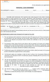 Personal Loan Agreement Between Friends New Simple Outline