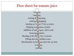 Tomato Sauce Production Flow Chart Tomato Processing