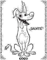 Coloriage Dante Coco Disney Dessin Imprimer 4p Pinterest