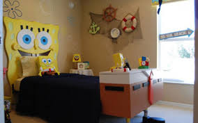 Funny Spongebob Themed Bedroom Decorating Ideas For Kids Room : Unique  Spongebob Themed Kids Room With