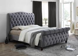 Colorado Grey Fabric Sleigh Bed Oak Furniture UK Rooms To Go Sleigh Bed