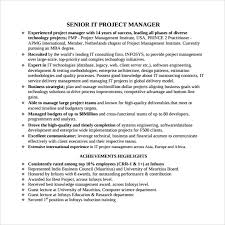 Resumes Free Download Free 7 Project Manager Resumes In Samples Examples Templates