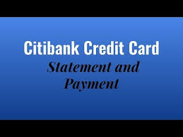citibank credit card payment and