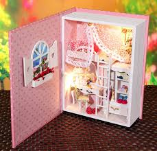 diy dollhouse furniture. B004 Hongda Diy Dollhouse Voice Light Wooden Doll House Diary Form Bedroom Miniature Christmas Gifts For Girls Free Shipping Furniture