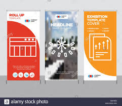Creative Table Chart Bars Chart Page Modern Business Roll Up Banner Design