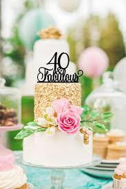 40th Birthday Cake Topper 40 And Fabulous Cake Topper Happy 40th