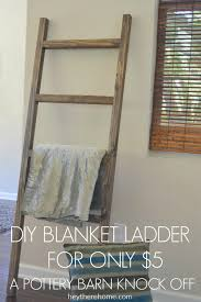 DIY Blanket Ladder: Pottery Barn Knock Off & DIY pottery barn blanket ladder Adamdwight.com