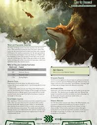 Monastic Tradition: Way of Falling Leaves | Rise and fall as a leaf on the  wind, and leave your foes scattered in your wake! : UnearthedArcana