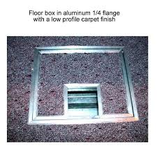 fsr fl 500p floor box in aluminum quarter inch with low profile carpet finish icon