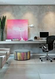 office decoration. Home Office With Pink Art. #Decor #Style. How I Would Like My Decoration