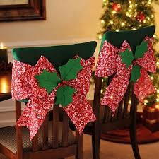 Red Poinsettia Chair Cover