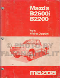 mazda b2600 service manuals shop owner maintenance and repair 1989 mazda b2600i b2200 pickup truck wiring diagram manual original