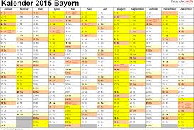 jahrskalender 2015 kalender 2015 bayern ferien feiertage excel vorlagen