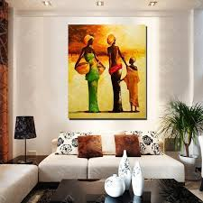 new design modern african women oil painting living room wall pictures large canvas wall art figure