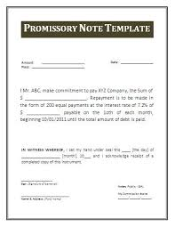 Promissory Note Word Template Free Promissory Note Template Word Promissory Note Word