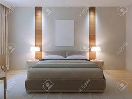 modern master bedroom. Modern Master Bedroom Design. Dressed Double Bed With Lether Headboard, White Walls Decorative