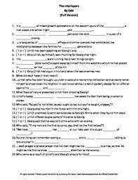 the interlopers teaching resources teachers pay teachers  the interlopers by saki complete guided reading worksheet
