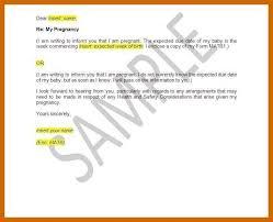 Maternity Leave Letter 3 4 Samples Of Maternity Leave