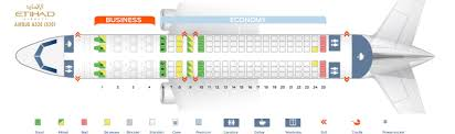 Etihad Flight Seating Chart Seat Map Airbus A320 200 Etihad Airways Best Seats In The Plane