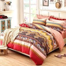 gypsy comforter sets crimson rust and peach byzantine pattern style retro luxury themed western cotton damask