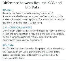 biodata and resume resume biodata and cv difference bio data spacesheep co