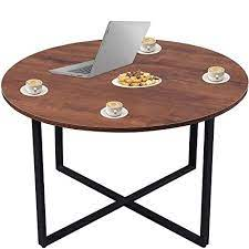 rustic round coffee table side end