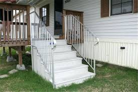 concrete steps for mobile homes home on garage within fiberglass plan 10
