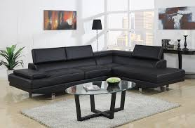 black modern couches. Baxton Studio Selma Black Leather Modern Sectional Sofa   Affordable Furniture In Chicago Couches R