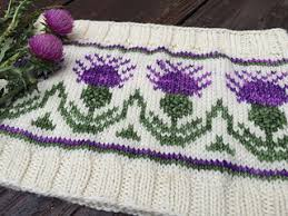Thistle Knitting Chart Highland Thistle Cowl Pattern By Mindy Reed