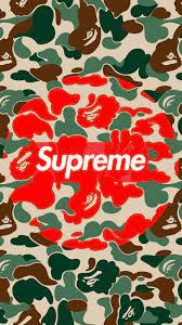 Supreme BAPE Logo Red Wallpapers on ...