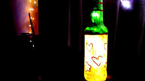 Glass Bottle Lamps Diy Glass Bottle Lamp Creative Ideas For House Party Youtube