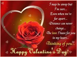 Love Valentines Quotes I may be away but I'm sure even when we're far part distance can 13