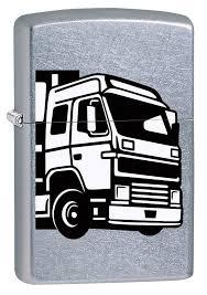"<b>Зажигалка Zippo</b> ""<b>207 European</b> Truck"", 3,6 х 1,2 х 5,6 см"