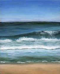 small acrylic landscape painting beach themed original art seas ocean waves 95 00 via