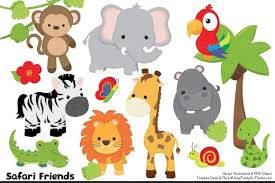 Safari Animals Template Hd Jungle Animal Coloring Pages Vector Design Vector