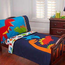 dino dreams 4 piece toddler bedding set