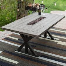 perfect patio dining table belham living lake como steel slatted hayneedle clearance set with fire pit