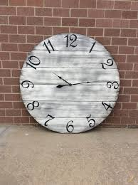 48 wall clock custom wall clock large wall clock oversized wall clock neutral wall clock barnwood wall clock rustic wall clock